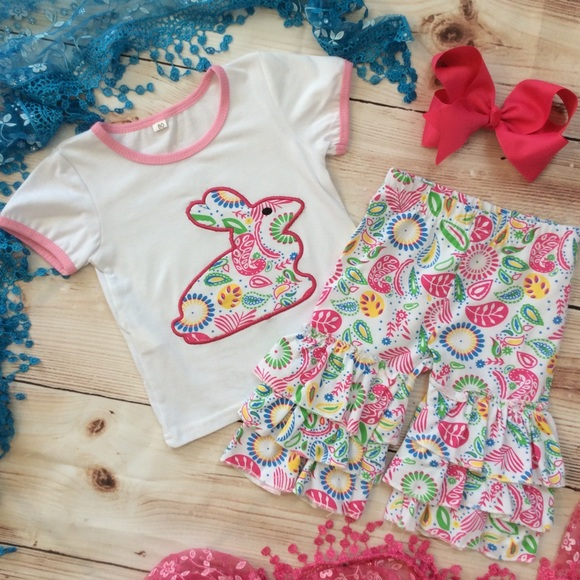 8b51387de Matching Sets | Boutique Baby Girl 3pc Rabbit Outfit | Poshmark